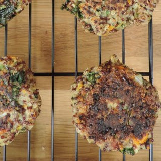 Quinoa, Kale, and Flaxseed Patties