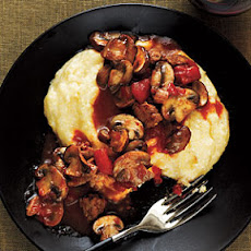 Mushroom and Sausage Ragu with Polenta