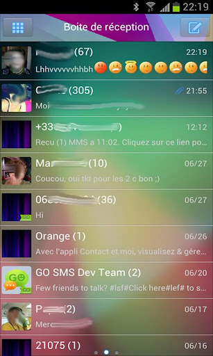Go SMS Jelly Bean 4.1 theme