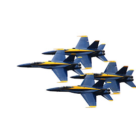 Blue Angels in Formation by Michael Lopes - Transportation Airplanes ( navy blue angels, navy flight team, blue angels, precision flying )