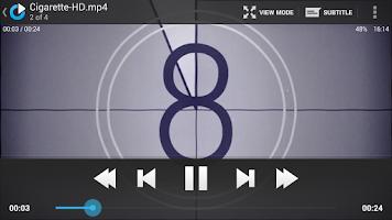 Screenshot of mVideoPlayer