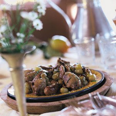 Quail with Grapes and Sausage