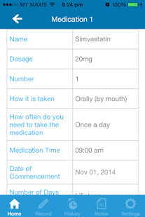 My Medication Diary - screenshot
