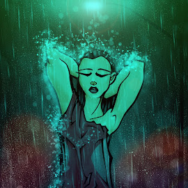 Under the rain by Dave Bernard - Drawing All Drawing