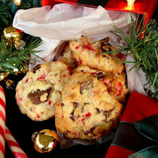 Candy Cane Chocolate Chunk Cookies