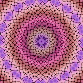 by Dipali S - Illustration Abstract & Patterns ( abstract, purple, pattern, illustration, pink, symetery )
