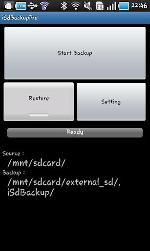 iSdBackupPro for Galaxy S Tab