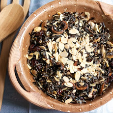 Wild Rice with Crispy Mushrooms, Cherries, and Toasted Almonds