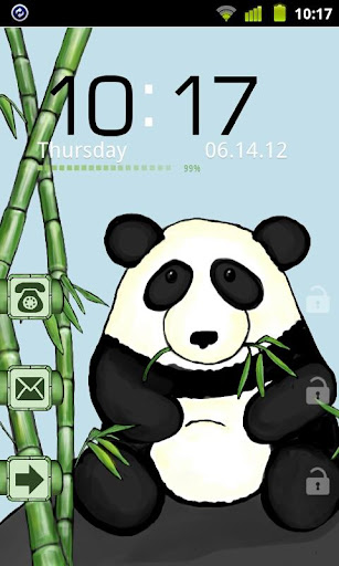 Bamboo Panda Theme GO Locker