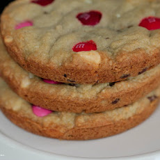 Raspberry Scented M&M Cookies