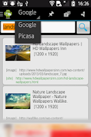 Screenshot of Image Search