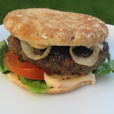 Jamaican Jerk Burger with Chipotle-Orange Mayonnaise