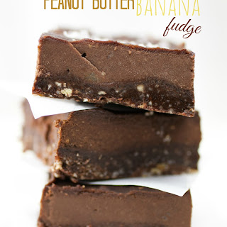 Healthy Peanut Butter Maple Banana Fudge