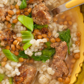 Sausage, Lentil and Barley Soup