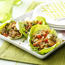 Thai Chicken Lettuce Wraps