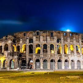 Colosseum at night-forum view by Nicolin Vladimir - Buildings & Architecture Public & Historical ( coloseum, rome, coloseum night, night, italy )