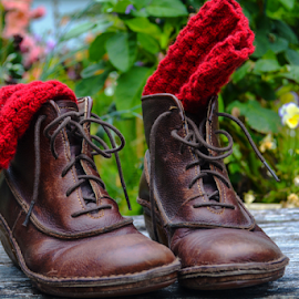 hiking boots by Jeanne Knoch - Artistic Objects Clothing & Accessories ( artistic, object )