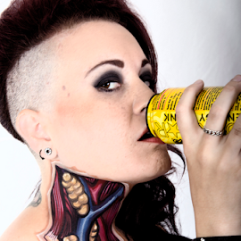 What's in your drink? by Caldera Fotogruffy - People Body Art/Tattoos (  )