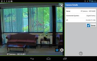 Screenshot of Pelco Mobile™