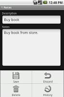 Screenshot of Password Notes Pro