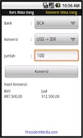 Screenshot of Indonesian Bank Rate