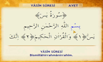Screenshot of Yasin-i Şerif