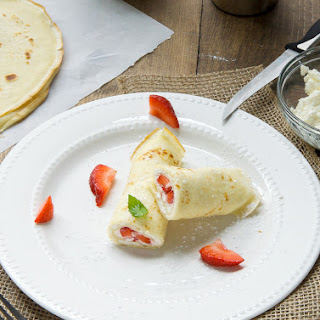 Cream and Cottage Cheese Filled Crepes