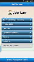 Screenshot of IT Act 2000-Cyber Law