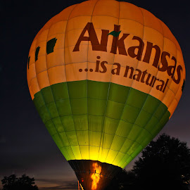 Arkansas Is A Natural Aglow by Brenda Hooper - News & Events Entertainment ( hot air balloon, little rock, park, event, arkansas )