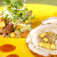 Plantain-Stuffed Pork Loin