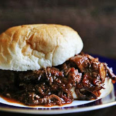 Braised BBQ Beef Sandwich