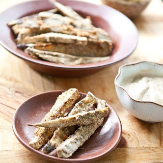 Baked Za'atar Eggplant Fries with Lemon Tahini Dip