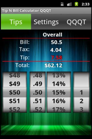Tip N Bill Calculator QQQT