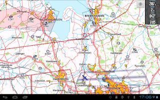 Screenshot of VFRnav flight navigation