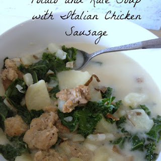 Potato and Kale Soup with Italian Chicken Sausage {aka a lighter version of OG's zuppa toscana)