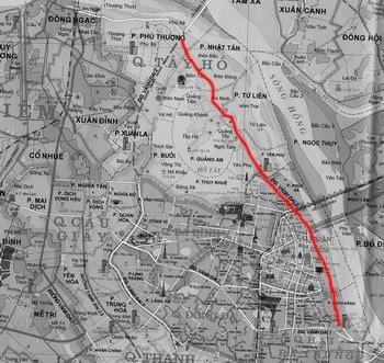Bản đồ khu vực dự kiến triển khai Con đường gốm sứ
