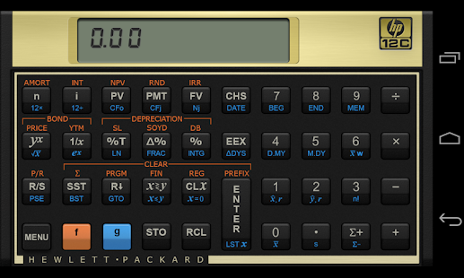 HP 12c Financial Calculator screenshot for Android