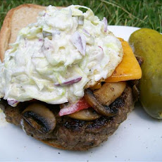 Amy's Dill Pickle and Lettuce Hamburger