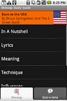 Screenshot of Born in the USA: Shmoop Guide