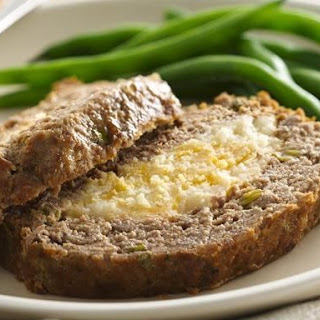 Mashed Potato Stuffed Meat Loaf