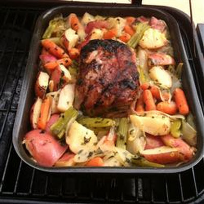 DJ's Outdoor Pork Loin with Veggies