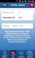 Screenshot of PayPAMS