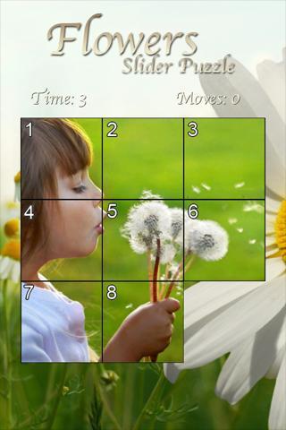 Flowers Slider Puzzle