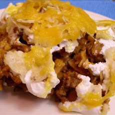 End-Zone Enchilada Casserole