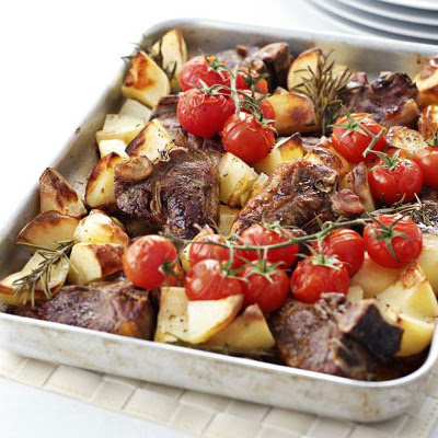Rosemary Roast Chops & Potatoes