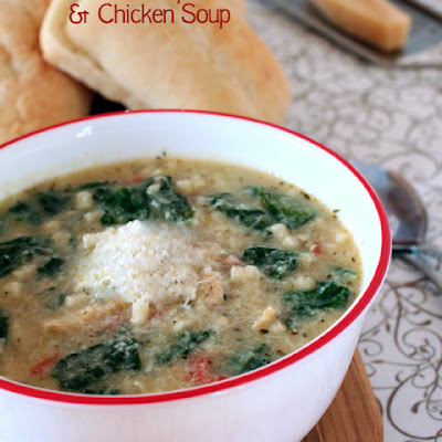 Creamy Artichoke, Spinach and Chicken Soup