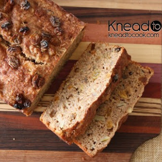 Pear Raisin Walnut Wheat Bran Bread.