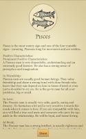Screenshot of Zodiac Profile