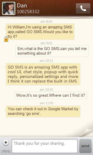 GO短信简约纸张主题