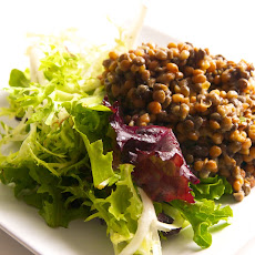 Lemon Thyme Lentils with Mesclun Greens